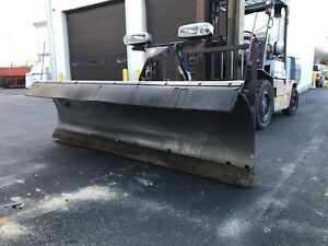 9 Fisher Stainless Steel Minute Mount Two Snow Plow X blade