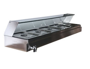 5 pan Steamer Bain marie Buffet Countertop Food Warmer Steam Table Warming Tray