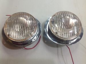 Pair Signal stat 6s Vintage Auto Truck Light Sigstat Clear Backup Driving Lamp