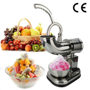 440lbs Electric Ice Shaver Machine Snow Cone Maker Crusher Shaving Cold Drink Us