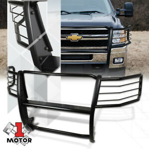 Mild Steel Grille brush headlight Guard For 11 14 Chevy Silverado 2500 3500 Hd