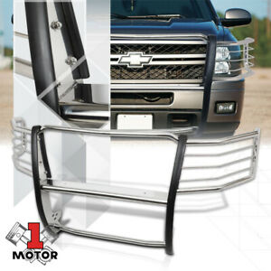 Stainless Steel Grille headlight Guard For 11 14 Chevy Silverado 2500 3500 Hd