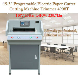 Automatic 19 3 490mm Electric Paper Cutter Programable Cutting Machine New