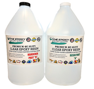 Epoxy Resin 2 Gal Kit Crystal Clear Super Gloss Coating And Table Tops