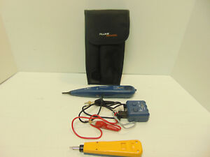 Fluke Networks Pro3000 Probe Toner With D814 Impact Punch Down Tool In Case