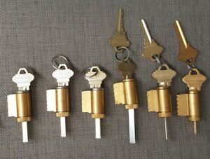 Lot Of 6 Schlage Knob Lever Lock Cylinders Locksmith