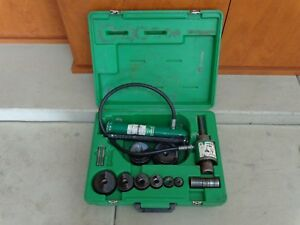 Greenlee 7306sb Hydraulic Punch Driver Knockout Set 2 1 2 And 3 Dies