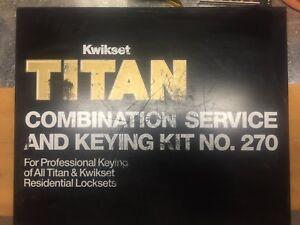 Kwikset Titan Combination Service And Keying Kit No 270