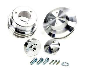 March Performance 7015 Aluminum V belt Performance Series Pulley Kit Fits Bbc