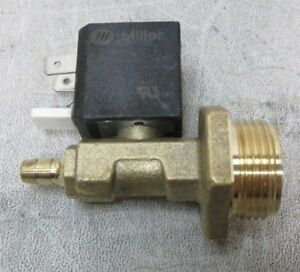 Miller 226819 12vdc 1 Way Valve 750 14 Thd 2mm Orf 100psi New Free Shipping