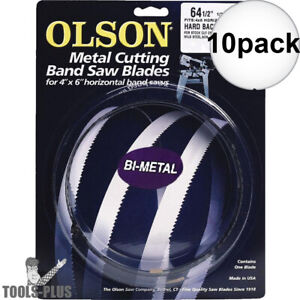 Olson Bm82664 Tooth Metal Cutting Band Saw Blade 64 1 2 X 1 2 X 10 10x New