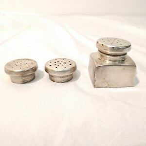 George Washington Sterling Silver Square Salt Or Pepper Shaker 2 Extra Tops