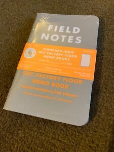 Field Notes Ddc Standard Issue Weirdo Factory Floor Memo Books Sealed Brand New