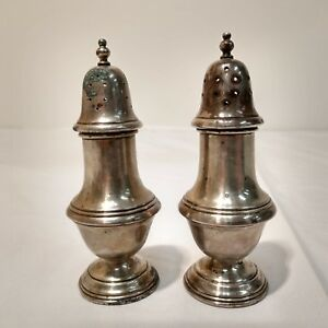 Schweitzer Solid Sterling Silver Salt And Pepper Shakers 4 1 2