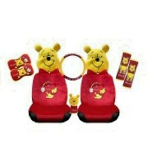 Winnie The Pooh Car Accessory Set 10 Pieces Superb Official Pooh Gift Set
