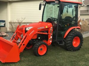 Kubota B3350 Cab Heat A c Air Tractor 4x4 Quick Attach Loader Bucket Low Hours