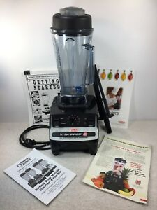 Vitamix Vita Prep 3 Commercial Blender 2007 Recipe Book Accessories Usa Powerful