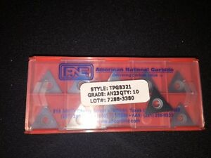 Package Of 10 Tpgb321 An23 Indexable Carbide Inserts From Anc