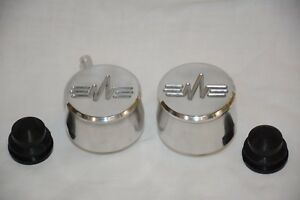 Polished Aluminum Heartbeat Valve Cover Breather Pcv Set Street Rod Breathers
