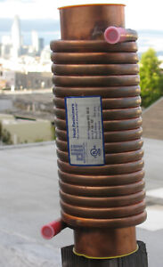 Double wall Heat Exchanger Copper Drain Water Sample Heat Reclaimer Doucette