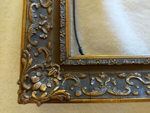 Fine Gold Gilt Frame Excellent Cond Gesso Over Wood Antique Small 10x13