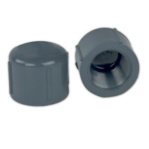 4 Schedule 80 Gray Pvc Threaded Cap