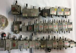 Lot Of 31 A1 ok used Compact Air Products Square Cylinders all Flavors