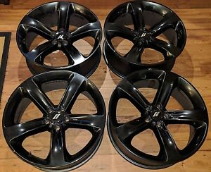20 Dodge Charger Rt Gloss Black Wheels Rims Oem 2015 2016 2017 2018