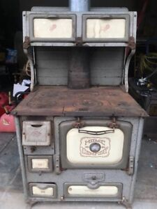 Antique Home Comfort Wood Burning Cook Stove Wrought Iron Range Company
