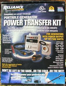 New Reliance 31406crk 30 Amp 7500 Watt Portable Generator Transfer Switch 6c Nib