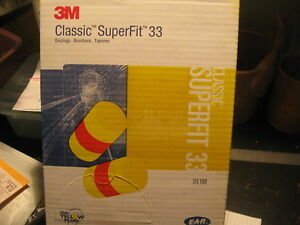 3m Ear Plugs Nrr 33 Classic Superfit 33 200 Pairs 310 1008 Uncorded Disposable