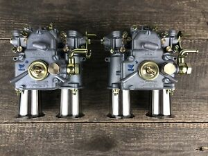 2x 45 Dcoe 152 G Original Weber Twin Carburettor With Inlet Funnel Alfa Vw