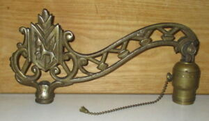 Antique Floor Lamp Iron Bridge Arm With Dog Shield Decoration