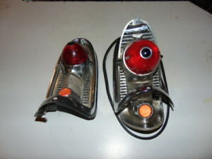 2 Vintage 1956 Chevrolet Tail Lights Housing Assy With Hide Away Gas Tank Door
