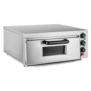 Electric 2000w Pizza Oven Single Deck Rotisserie Commercial Stainless Steel