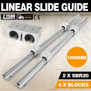 Sbr20 1000 2xlinear Rail Set 4x Bearing Block Linear Slide Guide High Load Shaft