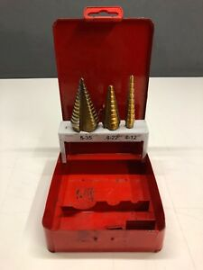 Bluepoint 3pc Step Up Drill Bit Set Sold By Snap On