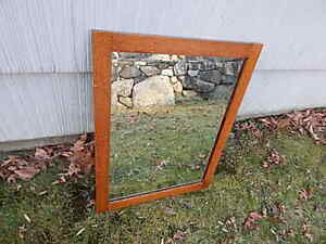 Antique Oak Mirror 27 Inches Tall X 20 3 4 Inches Wide Nice Usa Sale