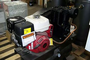 Chicago Pneumatic Air Compressor Honda Gas Two Stage New Other