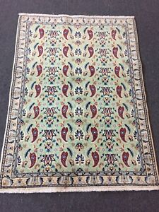 On Sale Fine Hand Knotted Persian Naein Naeen Silk Wool Rug Carpet 3 X4 2