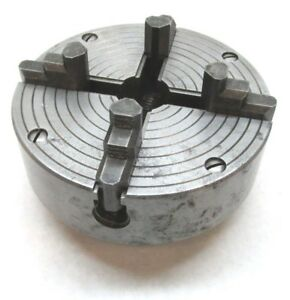 Craftsman 6 Independent 4 jaw Lathe Chuck W 1 1 2 8 Threaded Mount