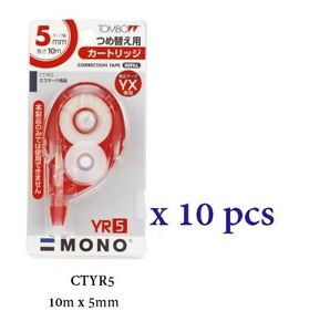 Tombow Correction Tape 10m X 5mm Ctyr5 10 Pcs