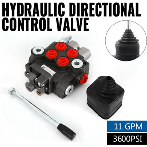 2 Spool Hydraulic Control Valve Double Acting 11gpm 3600 Psi 40l min Bspp Port