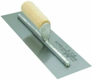 Marshalltown Mx57 14 x3 Finishing Trowel With Straight Wood Handle