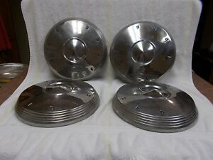 Ford Hubcaps 1960 1961 1962 Dog Dish Poverty Galaxy Nice Free Shipping