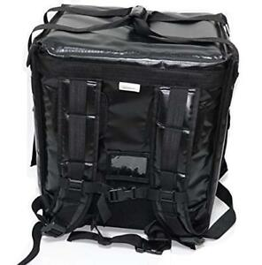 Pk 65abl Insulated Pizza Delivery Backpack Bag Top Load Side Load black
