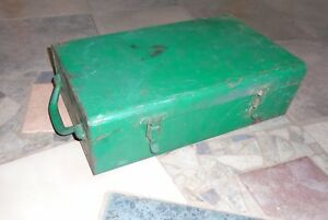 Vintage Greenlee Case For 7646 Hydraulic Knockout Punch Die Set Toolbox