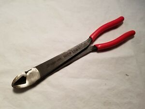 Snap On 312cp Heavy Duty Power Grip Diagonal Pliers Cutters 11 long