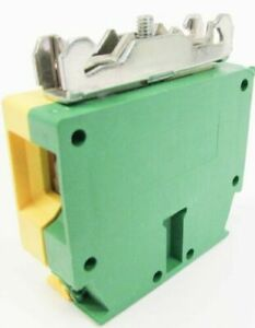 Cabur Te50d Green yellow Terminal Block Connector 4 pkg 125a 8kv 2p 16 1awg