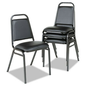 Alera Sc68vy10b Padded seat Steel Stack Chair With Square Black Frame New